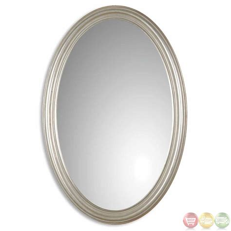 spiegelschrank oval franklin oval contemporary distressed silver leaf vanity