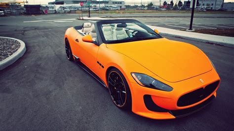 orange maserati beautiful orange convertible maserati wallpapers and
