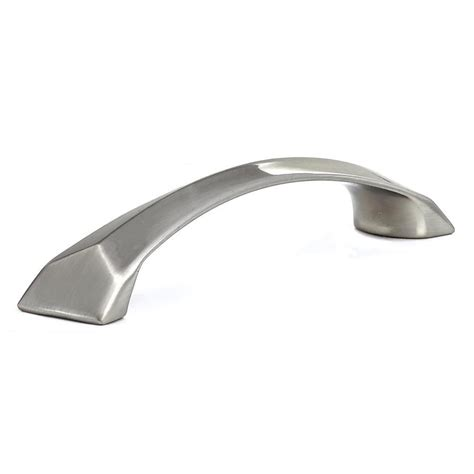 Cabinet Door Pulls Brushed Nickel Shop Richelieu 5 In Center To Center Brushed Nickel Arched Cabinet Pull At Lowes