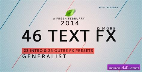 free after effects text templates text fx generalist after effects presets plugins