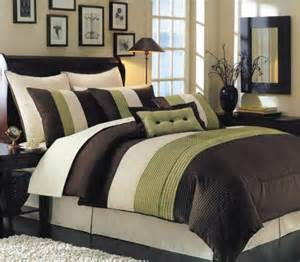 Home Design Down Alternative Comforter 8 pc luxury super set oversized amp overfilled chocholate