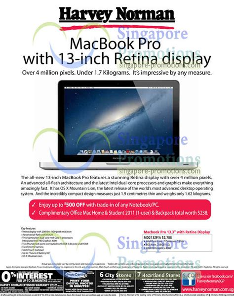 Macbook Pro Januari harvey norman apple macbook pro notebook offer 31 jan 6 feb 2013