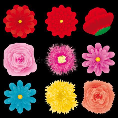 Set Flower 4 flower set part 4 stock vector illustration of
