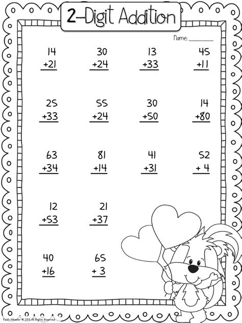 2nd Grade 2 Digit Addition Worksheets by 2 Digit Addition S Day 2nd Grade Math