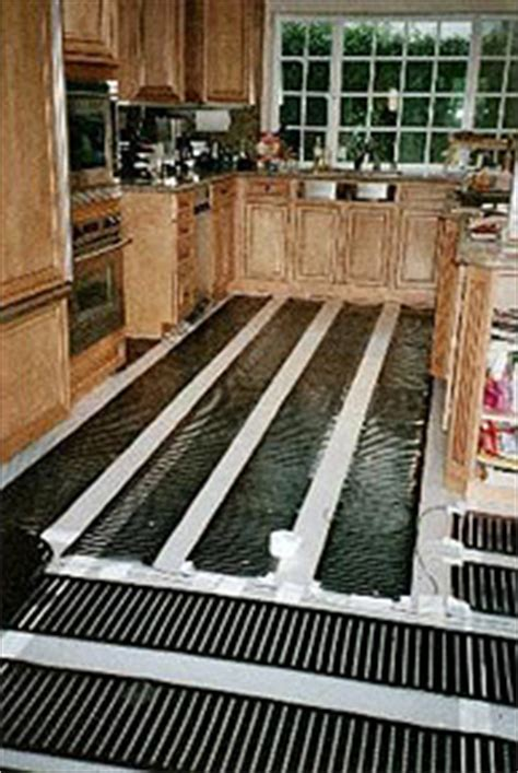 radiant heat under kitchen cabinets installation of radiant floor systems and products