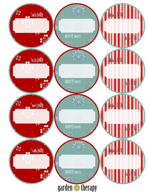 printable canning jar labels last minute holiday gifts and printable gift tags garden