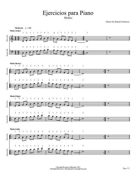 ejercicios de piano para ejercicios para piano