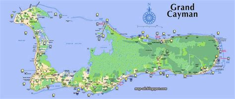 printable map grand cayman island map of cayman islands caribbean pictures to pin on