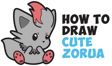 draw cute zorua pokemon  easy step  step