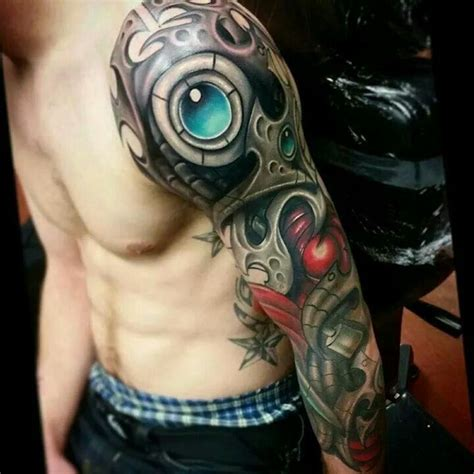 17 Best Images About Biomechanical Tattoo Design On Bionic Arm Sleeve