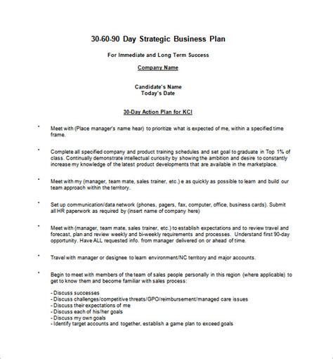 30 60 90 plan template 16 30 60 90 day plan template free sle