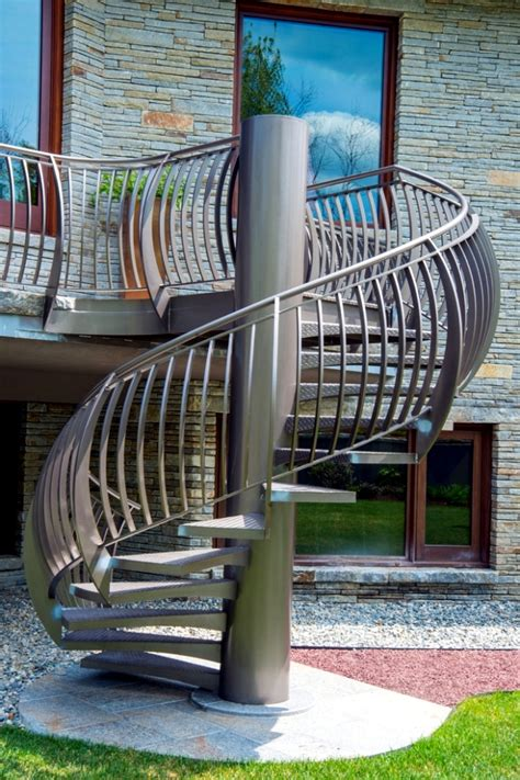 outdoor stairs decoration that will amaze you the modern steel staircase inside and outside in the
