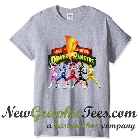 Kaos Dtg Mighty Morphin Power Ranger White Ranger Emblem Logo mighty morphin power rangers t shirt