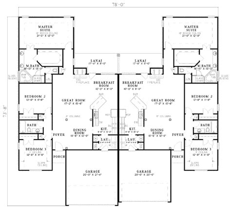 3500 square feet mediterranean style house plan 3 beds 2 baths 3500 sq ft