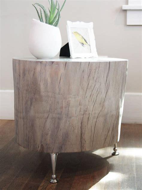 beautiful tree stump side table