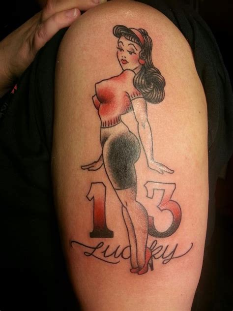 kustom thrills tattoo 8 best reference lucky 13 images on