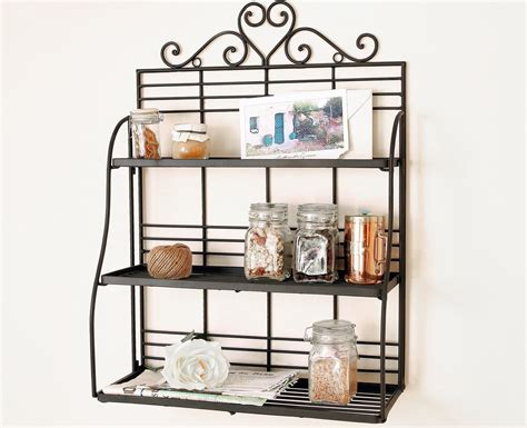 Bakers Rack With Storage Cabinets by Clever Kitchen Ideas Kitchen Storage Racks Metal Kitchen