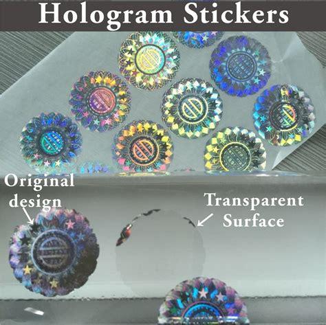 Printable Hologram Stickers | custom hologram cubic vinyl sticker 3d effect printable