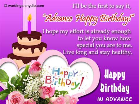 Happy Birthday Wishes In Advance Sms Advance Birthday Wishes Messages And Advance Birthday