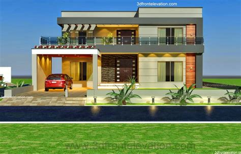 3d front elevation 1 kanal style house convert in