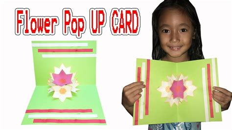 How To Make A Origami Pop Up Card - how to make 3d flower pop up card diy