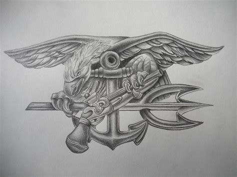 navy seals tattoo designs trident tattoos thread any artists out there drawing