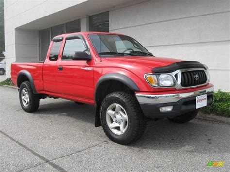 all car manuals free 2002 toyota tacoma xtra instrument cluster 2002 radiant red toyota tacoma xtracab 4x4 18507439 gtcarlot com car color galleries