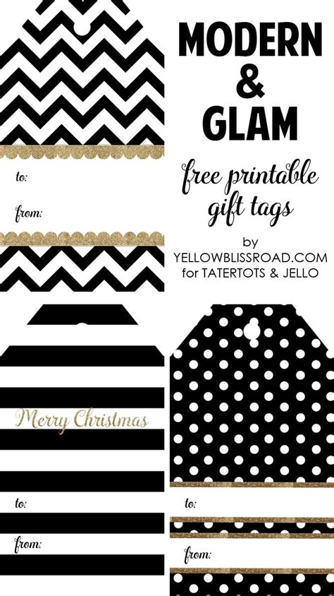 printable gift tags black and white happy holidays modern printable gift tag set tatertots
