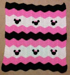 pink black and white minnie mickey mouse crochet baby
