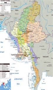 maps of myanmar burma detailed map of myanmar in