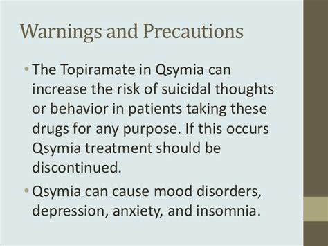 What Precautions Should Be Taken When Detoxing by Qsymia