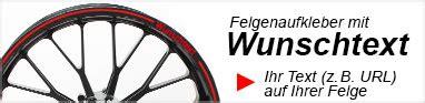 Felgen Aufkleber Wunschtext by Felgenrandaufkleber Shop Felgenaufkleber F 252 R Auto
