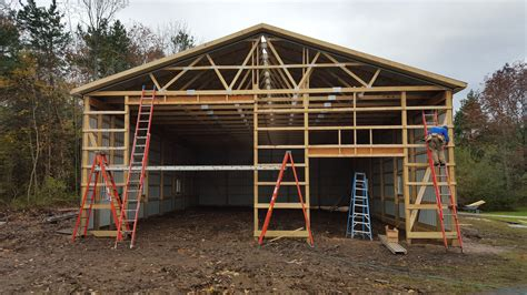 pole barn framing inside a pole barn home studio design