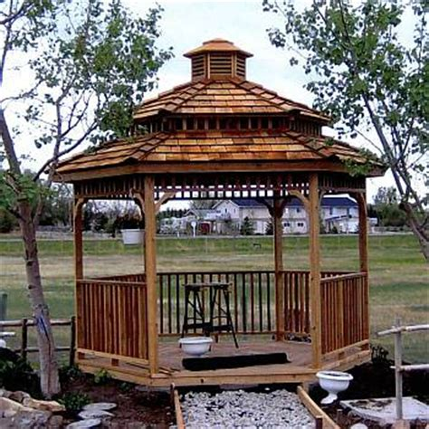 cedar gazebo kits hexagon cedar gazebo kit 8ft w86