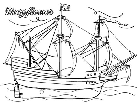 printable mayflower coloring page free pdf download at