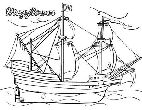 Printable Mayflower Coloring Page Free Pdf Download At Mayflower Coloring Page