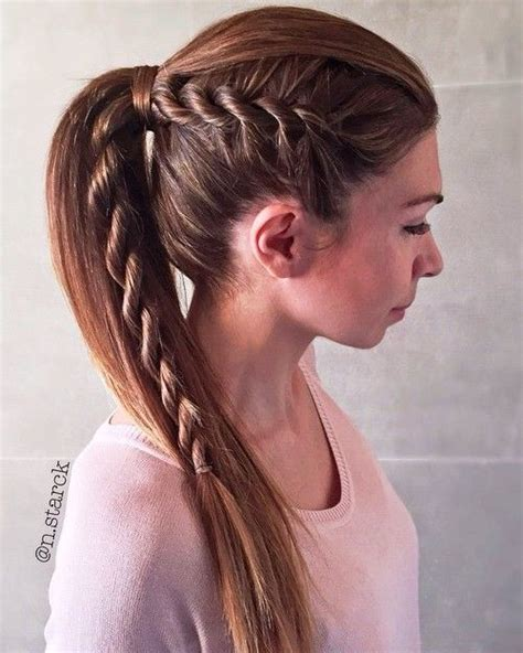 Plated Strait Back Hairstyles | 35 fetching hairstyles for straight hair