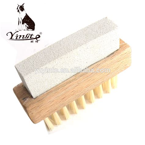 Sponge Shoe Brush wooden handle side shoe brush shoe sponge