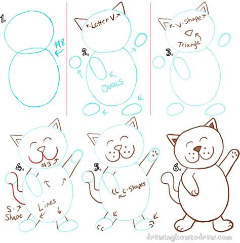 how to draw with doodle cat 1 big guide to drawing cats with basic shapes for