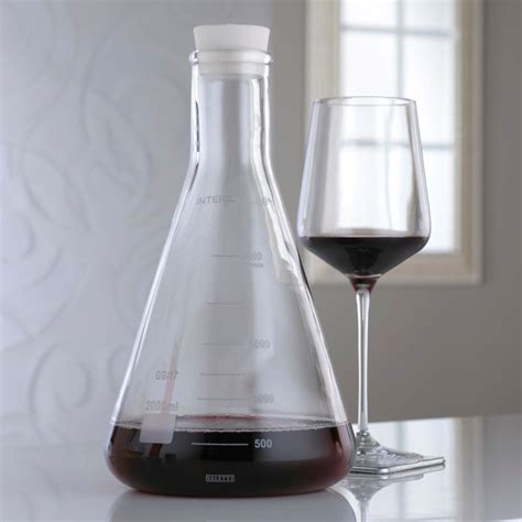 wine science better through chemistry 171 the wine erlenmeyer flask lab wine decanter the green
