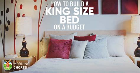 how to make up a bed how we make a diy king size bed frame on a budget in 8