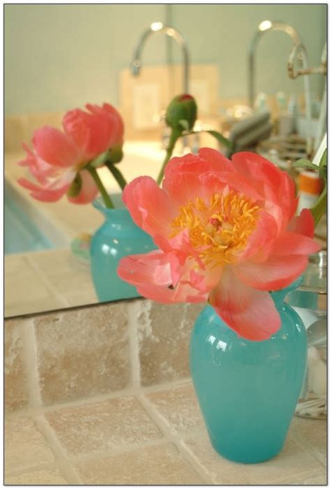 Turquoise Vases For Wedding by 1000 Ideas About Coral Peonies On Coral Roses