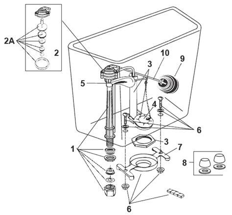 Eljer Faucet Replacement Parts by Eljer Preserver Ii Series Toilet Repair Parts