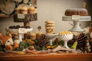 woodland critter sweet table for a baby shower http