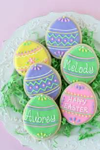 Easter Cookie Decorating Ideas Cute And Easy Decorated Easter Egg Cookies Glorious Treats