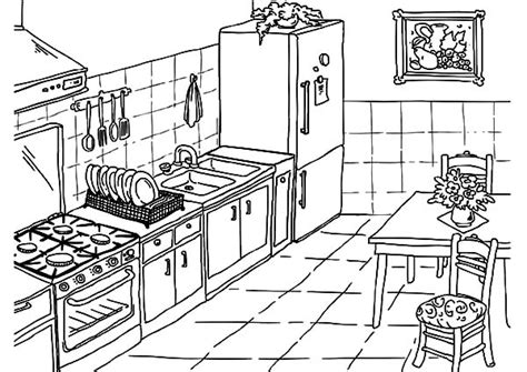 kitchen coloring pages www imgkid com the image kid