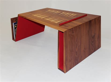 Handmade Bespoke Furniture - the folded backgammon table hugh miller