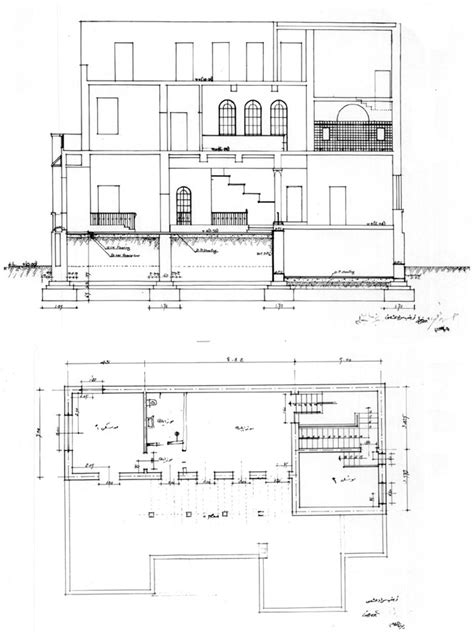 section working drawing villa hishmat working drawing second floor plan and