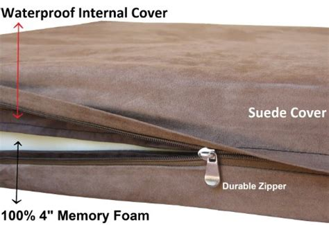 Microsuede Cover by Xl Orthopedic Durable Waterproof Luxury Memory Foam