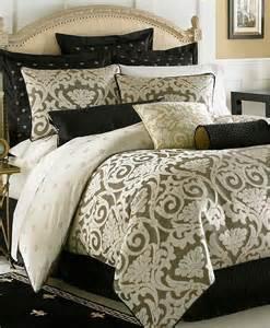 waterford bedding pomona queen comforter black cream